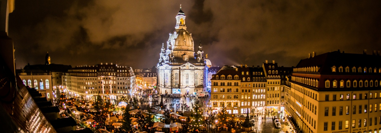 Julemarked omkring Frauenkirche