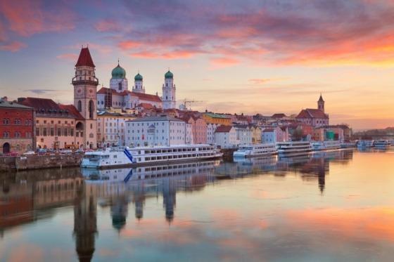 Efter en dejlig bustur med overnatning i Midttyskland når vi Passau